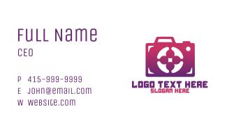 Purple Camera Business Card