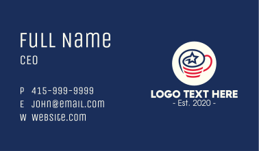 American Coffee Cup Business Card