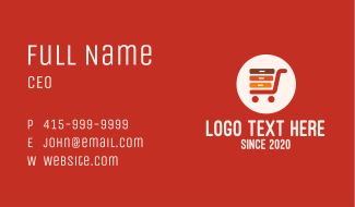 Ecommerce Server Shopping Cart Business Card