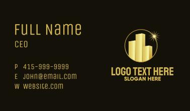 Golden Building Star Business Card