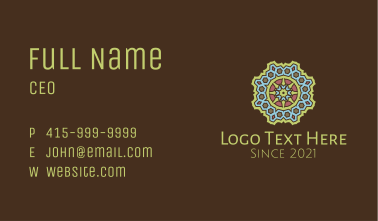 Detailed Geometric Pattern  Business Card