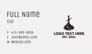 Excalibur Sword Stone Business Card