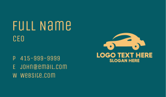 Small Yellow Car Business Card