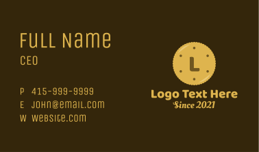 Pastry Cookie Lettermark Business Card