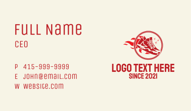 Shoe Fire Badge  Business Card