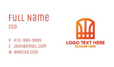 Basketball W Monogram Business Card