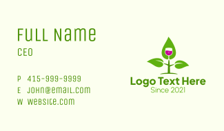 Natural Wine Plant Business Card