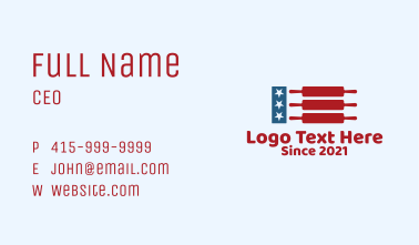 American Pastry Shop Business Card