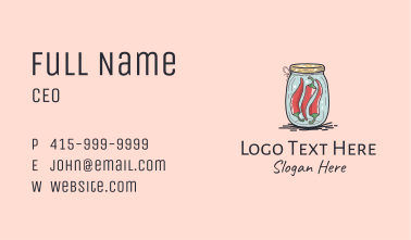 Chili Peppers Jar Business Card