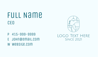 Minimalist Furniture Design Business Card