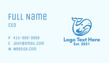 Whale Shark Animal  Business Card