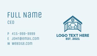 Blue House Window  Business Card