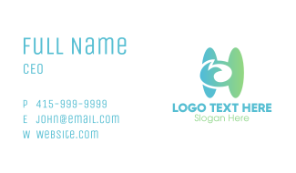 Organic Letter H Business Card