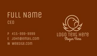 Eagle Head Outline Business Card