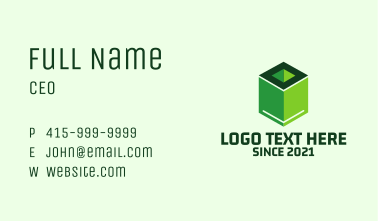 Eco Nature Library  Business Card