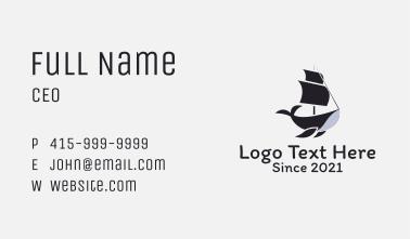 Ship Humpback Whale  Business Card
