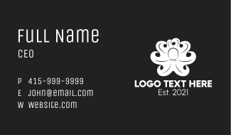 White Kraken Tentacles  Business Card