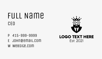 Black Suit King  Business Card