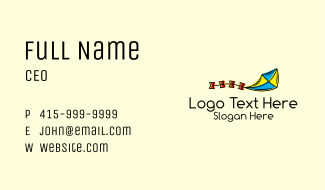 Flying Toy Kite  Business Card