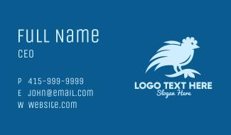 Blue Wild Bird Business Card