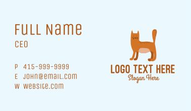 Playful Cat Letter H  Business Card