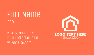 Housing Real Estate Business Card