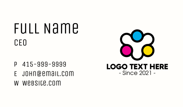 printing service - Community Printing Company Business card horizontal design