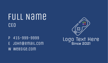 Gaming Mobile Phone Business Card