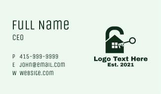 House Security Lock  Business Card