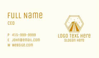 Golden Mayan Pyramid Business Card
