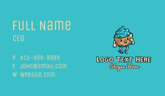 Walking Sweet Cupcake  Business Card