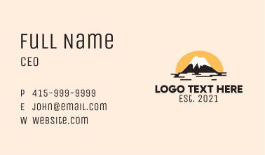 Nature Outdoor Mountain Business Card