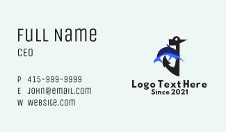 Anchor Swordfish  Business Card