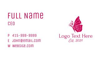 Butterfly Hair Salon  Business Card