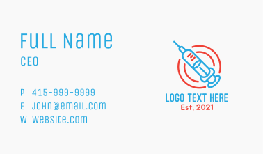Medical Vaccination  Business Card