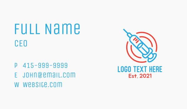 medical care - Medical Vaccination  Business card horizontal design