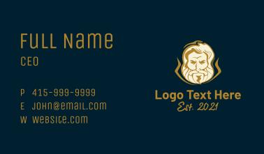 Greek Man Character  Business Card