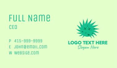 Green Dead Face Virus Business Card
