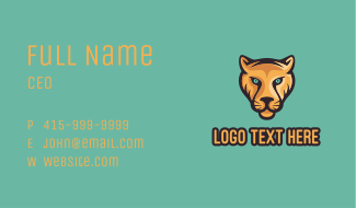 Panther Face Mascot Business Card