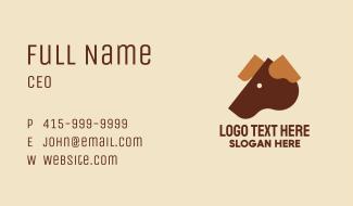 Brown Dog Head Business Card