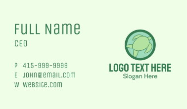 Turtle Conservation Badge Business Card