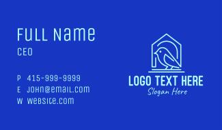Blue Bird House Business Card