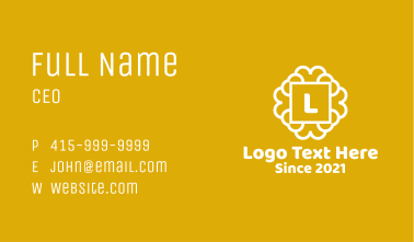 Moroccan Tile Letter  Business Card