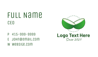 Sliced Green Coconut Business Card