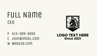 Chess Horse Badge  Business Card