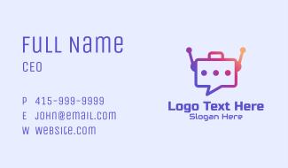 Message Bot Tech  Business Card