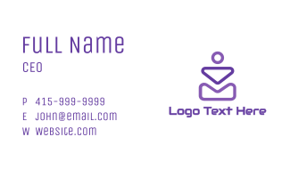Abstract Violet Shapes Business Card