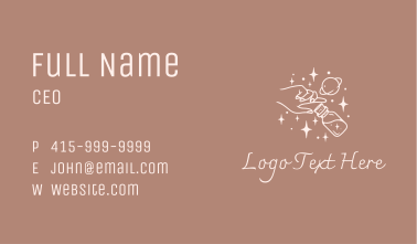 Mystic Hand Potion  Business Card