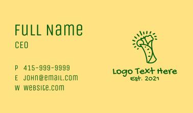 Green Healthy Burrito  Business Card
