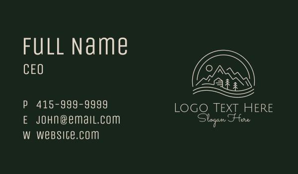 lodge - Minimalist Nature Park  Business card horizontal design